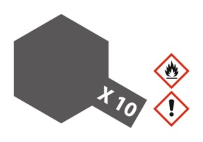 Acryl-Farbe X10 gun metal, metallic 23 ml