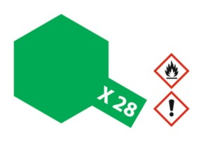 Acryl-Farbe X28 parkgrün, glänzend 23 ml