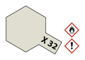 Acryl-Farbe X32 titanium-silber, metallic 23 ml
