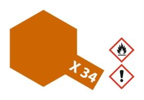 Acryl-Farbe X34 metallic braun 23 ml
