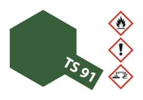 Acryl-Spray-Farbe TS 91 JGSDF Dunkelgrün 100 ml