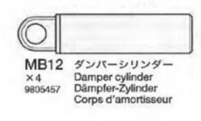 Zylinderkappen und Dämpfer-Zylinder