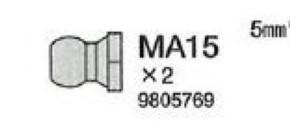 Alu-Verbindungskugeln, M3, 10 Stück