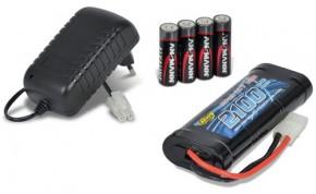 Expert Charger NiMh Compact 1A, mit Akku 7,2V 2100 mAh und 4 Mignon-Batterien