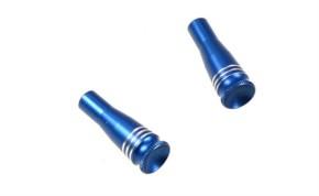 Alu Stuerknüppel blau eloxiert 2 Stück für Reflex 6, Auslaufteil
