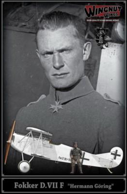 Fokker D.VII F mit Figur Hermann Göring, Topmodell