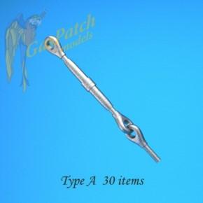 Metall Spannschlösser Typ A (Loch-rund), 30 St.