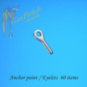 Metall Ankerpunkte - Öse, 60 St.
