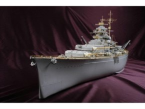 Detail-Komplettset Zubehör mit Holzdeck für Bismarck (TRU)  DX-Pack