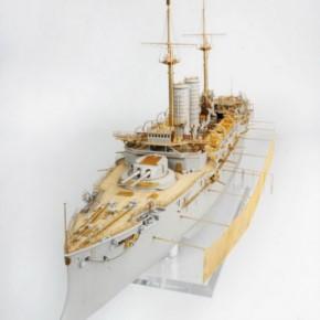 Zubehör-Komplett-Set mit Holzdeck für IJN Mikasa (Merit)  DX-Pack