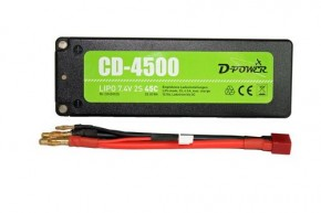 Lipo-Akku CD-4500/2S 7,4V 2 S 45C