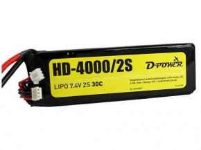 Lipo-Akku HD-4000/2S 7,4V 2 S 30C
