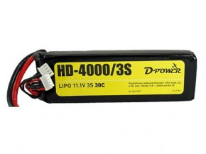 Lipo-Akku HD-4000/3S 11,1V 3 S 30C