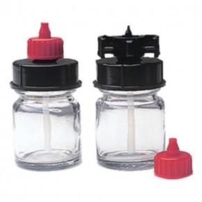 Schnellwechselgläser, 15 ml, 2 Gläser und Kappen