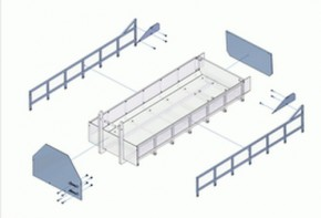 Flacher Container-Bausatz zu Tamiya-Abrollaufbau