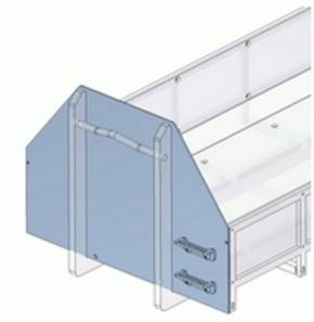 Frontblech mit Erhöhung und Trittstufen für flachen Container 09364T