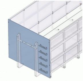Frontblech mit Erhöhung und Trittstufen für hohen Container 09366T