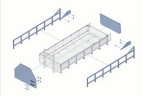 Umbausatz/Nachrüstsatz für flachen Container 09364T
