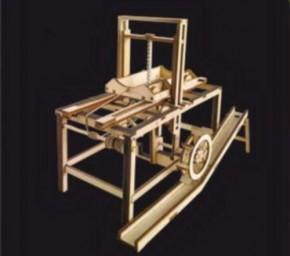 hydraulische Säge Leonardo ca Vinci, Einzelstück