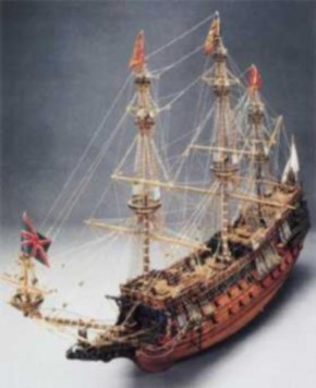 Sovereign of the Seas,1100 mm lang, Topmodell