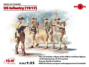 WWI US. Infanterie 4 Figuren, Neuheit 11/15