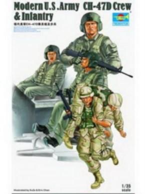 Mod. U.S. Army CH-47D Crew & Inf. 4 St.