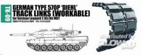 Panzerketten dt type 570P DIEHL für Leopard 2A5/A6 MBT