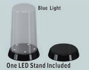 Display, gewölbter Deckel, 84x185, mit LED-Bel.