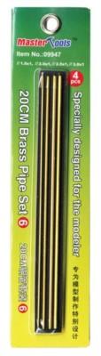 20 cm Messingrohr-Set 6, Brass Pipe