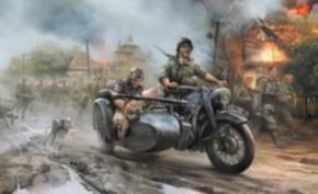 Germ. WWII Sidecar R12+Crew