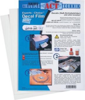 Decal-Film, klar, 1 Blatt, für Ink-Jet