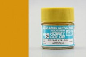 H34-cremegelb, glänzend, Acryl, 10 ml