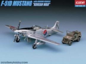 P-51D Mustang Korea + Fahrzeug