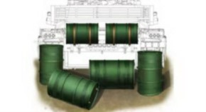 Chinese PLA 200l Oil Drum Set