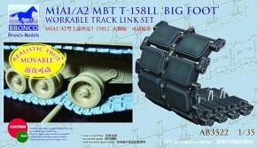 US M1A1/A2 MBT T-158LL Bigfoot workable track link set