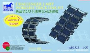 brit. Challenger 2 MBT workable track link set
