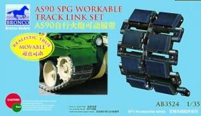 brit. 155 mm AS90 SPG workable track link set