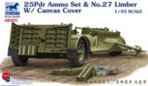 25 pdr Ammo set & No. 27 Limber w/Cover
