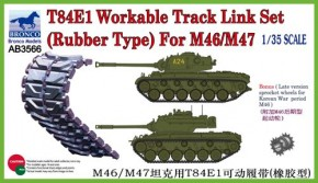T-84E1 workable track link set Rubber type