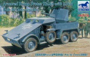 Armored Krupp Protze Kfz.69 with 3.7cm Pak 36 (late version