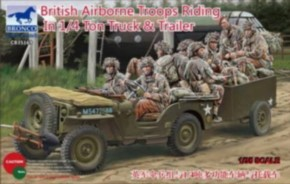 brit. Airb. Troops + 1/4 ton Truck & Trailer
