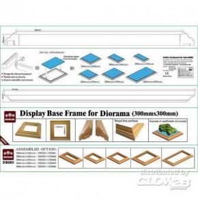 Rahmen für Dioramenplatten, holzartige Oberfläche 300 x 300 mm 2 Stück