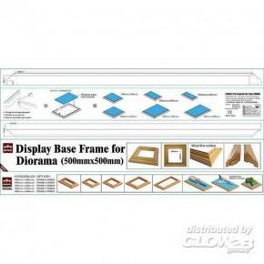 Rahmen für Dioramenplatten, holzartige Oberfläche 500 x 500 mm 2 Stück