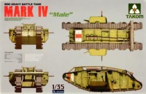 WWI Heavy Battle Tank Mk.IV Male