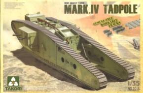 WWI Battle Tank Mk.IV Tadpole w/rear mortar