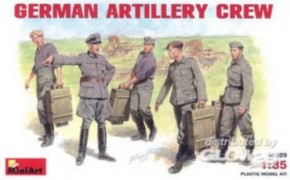 dt. Artillery-Crew, 5 Figuren