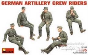 deutsche Artillery Fahrer Crew, 5 Figuren