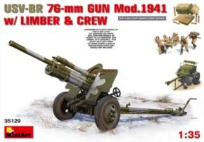 USV-BR 76mm Gun Mod. 1941 w/Limber & Crew