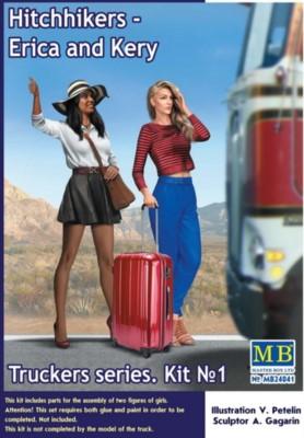 Hitchhikers Erica and Kerry, Truckers series No.1, 2 Figuren