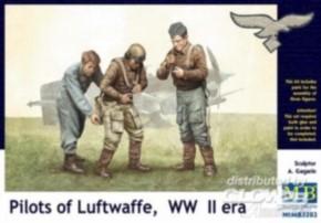 Piloten der Luftwaffe WWII, 3 Figuren